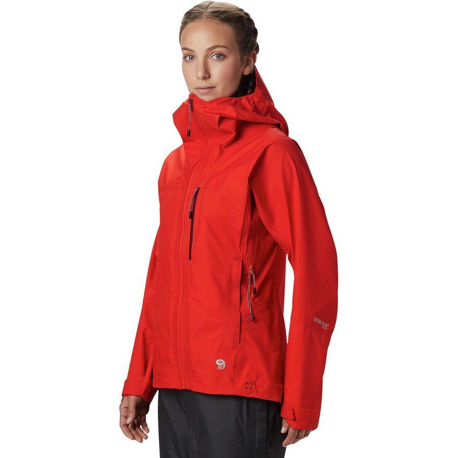 【クーポンで最大2000円OFF】(取寄)マウンテンハードウェア レディース エクスポージャー/ 2 Gore-Tex3L アックティブ ジャケット Mountain Hardwear Women Exposure/2 Gore-Tex 3L Active Jacket Fiery Red