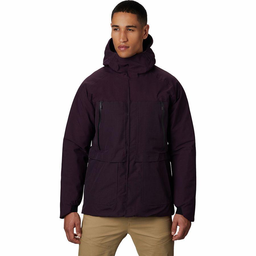 (取寄)マウンテンハードウェア メンズ サミット シャドー Gtx ダウン フーデッド ジャケット Mountain Hardwear Men's Summit Shadow GTX Down Hooded Jacket Darkest Dawn