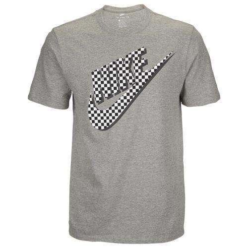 ナイキ メンズ 半袖Tシャツ グラフィック Tシャツ グレー Nike Men's Graphic T-Shirt Dark Grey Heather Black White