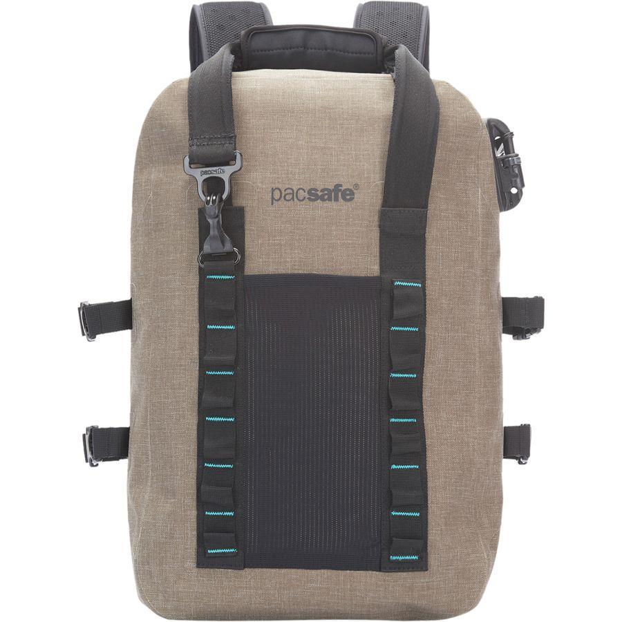 (取寄)パックセーフ ユニセックス ドライ 25Lスプラッシュプルーフ バックパック Pacsafe Men's Dry 25L Splashproof Backpack Sand