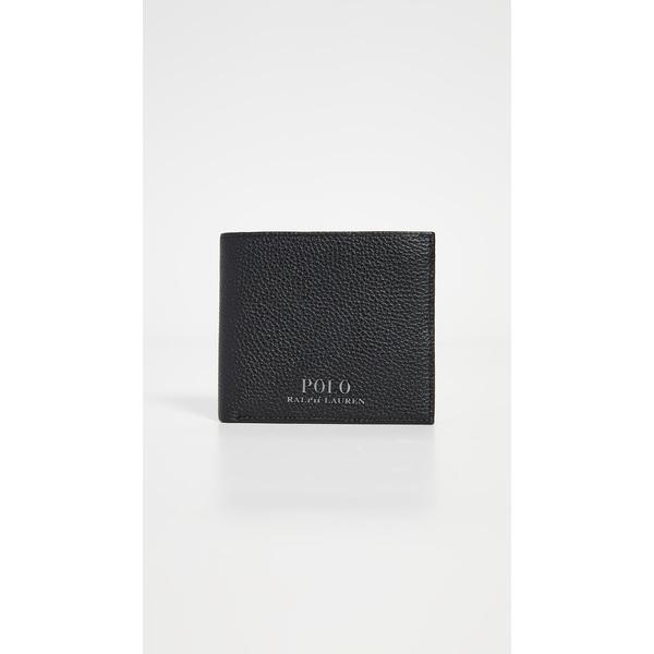 (取寄)ポロ ラルフローレン テーラード ペブル レザー バイフォールド ウォレット Polo Ralph Lauren Tailored Pebble Leather Bifold Wallet Black