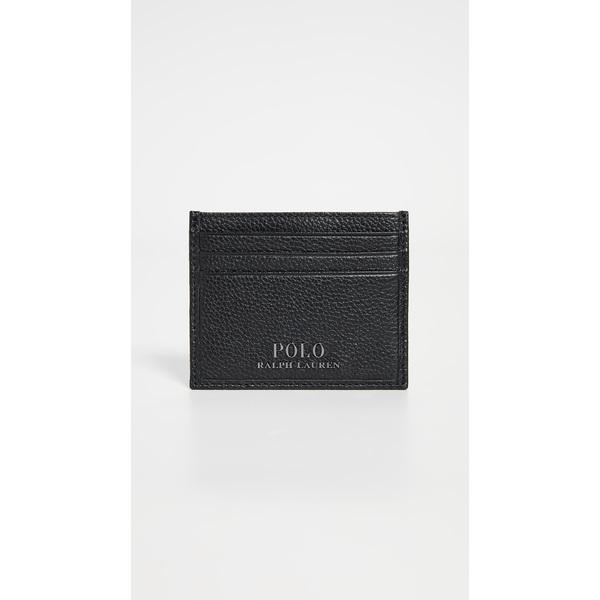 (取寄)ポロ ラルフローレン テーラード ペブル レザー カード ケース Polo Ralph Lauren Tailored Pebble Leather Card Case Black