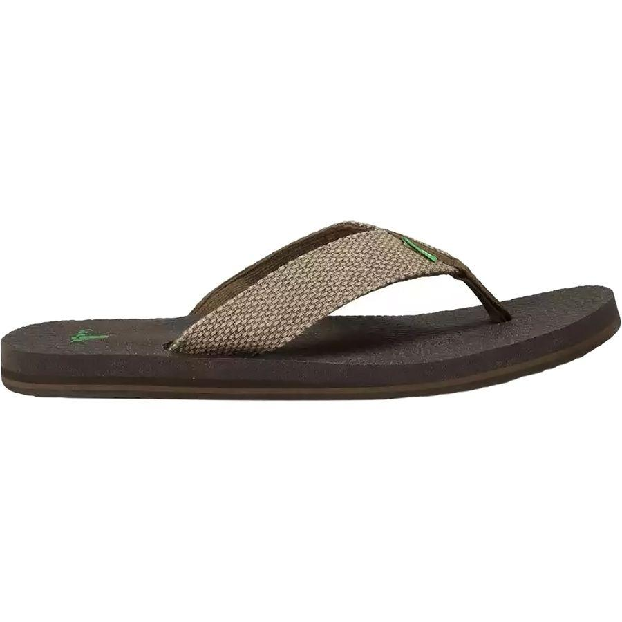 (取寄)サヌーク メンズ ヨギ 4 フリップ フロップ Sanuk Men's Yogi 4 Flip Flop Brown Weave
