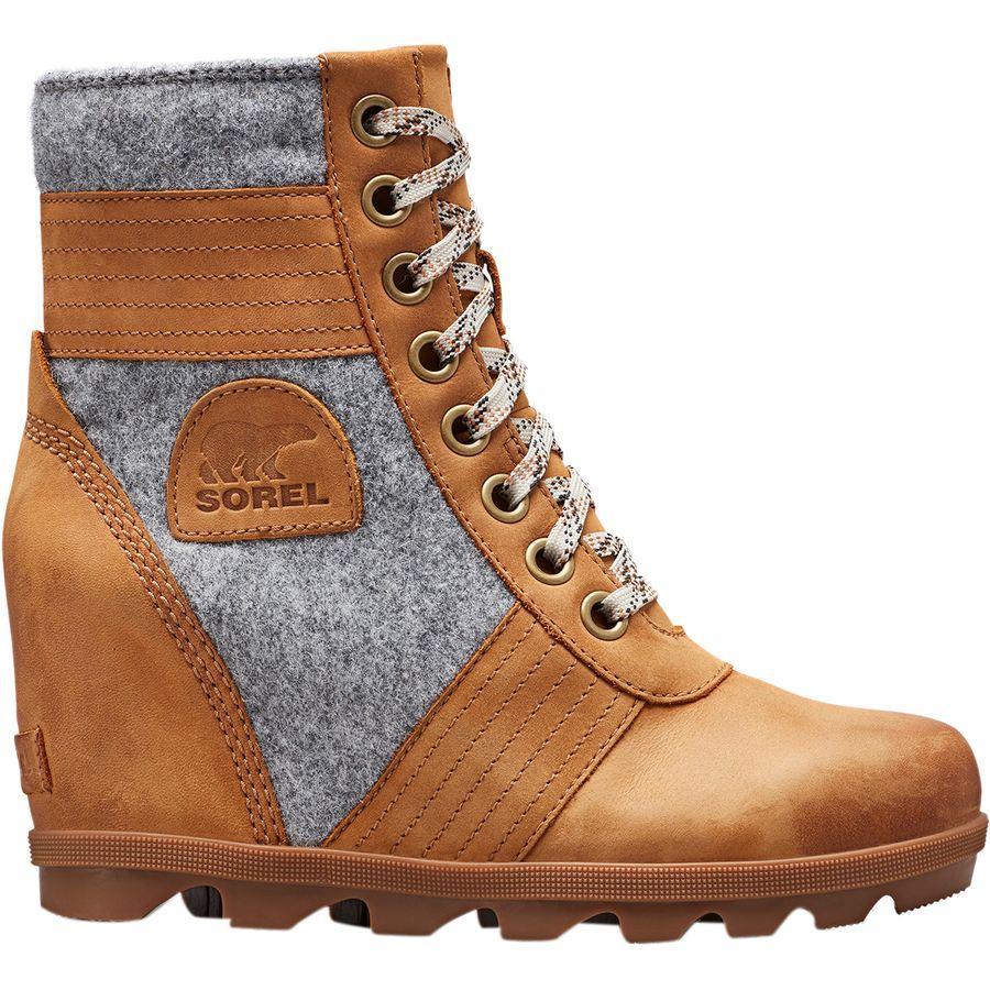 【トレッキング クライミング アウトドア 登山靴】 【レディース シューズ ブーツ 大きいサイズ】 (取寄)ソレル レディース レクシー ウェッジ ブーツ Sorel Women Lexie Wedge Boot Camel Brown