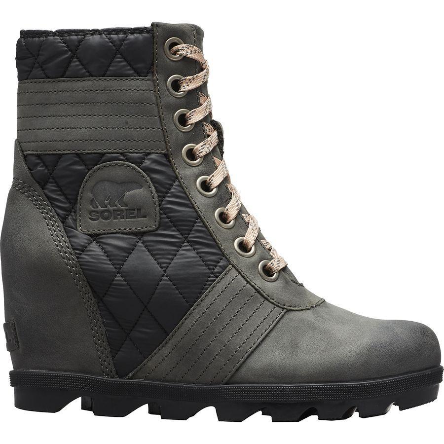 【トレッキング クライミング アウトドア 登山靴】 【レディース シューズ ブーツ 大きいサイズ】 (取寄)ソレル レディース レクシー ウェッジ ブーツ Sorel Women Lexie Wedge Boot Dark Slate