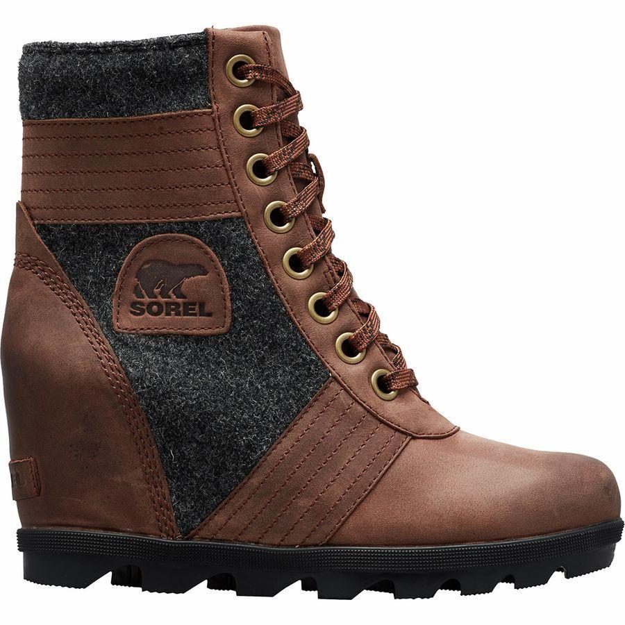 【トレッキング クライミング アウトドア 登山靴】 【レディース シューズ ブーツ 大きいサイズ】 (取寄)ソレル レディース レクシー ウェッジ ブーツ Sorel Women Lexie Wedge Boot Tobacco