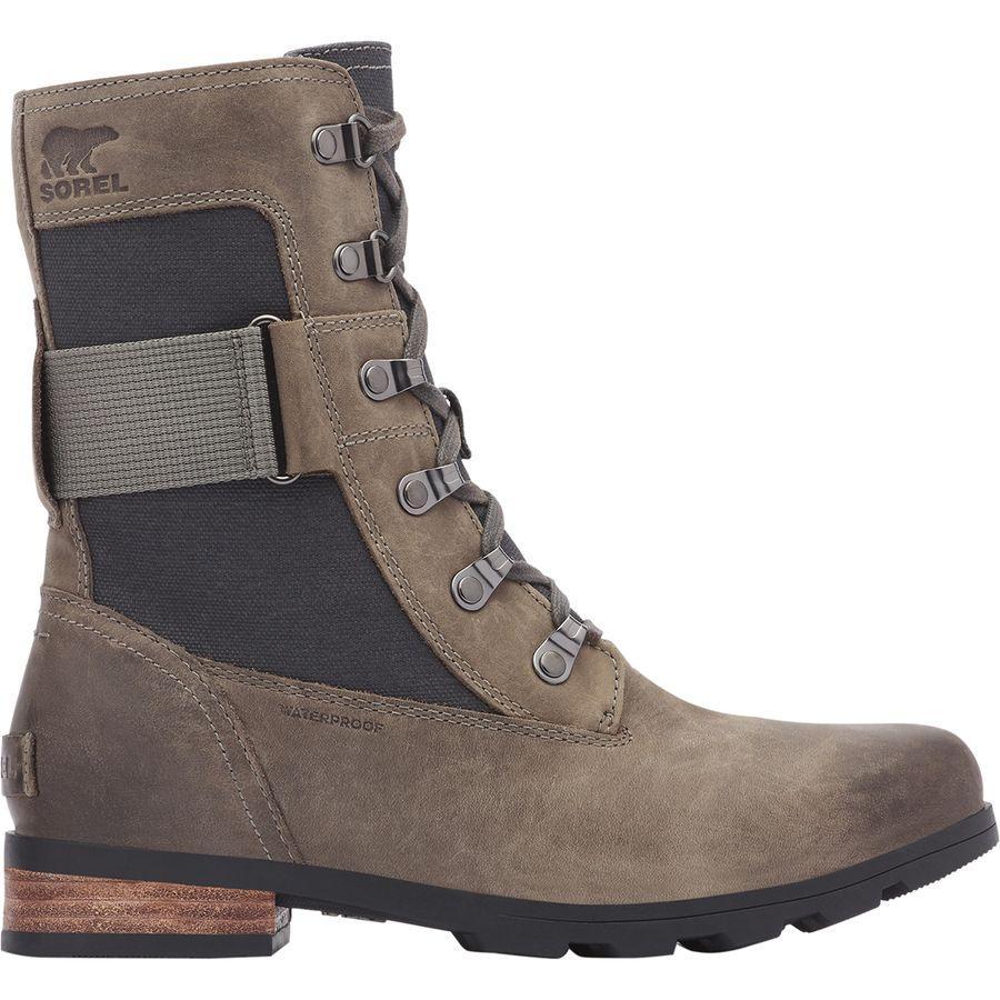 【トレッキング クライミング アウトドア 登山靴】 【レディース シューズ ブーツ 大きいサイズ】 (取寄)ソレル レディース エミリー コンクエスト ブーツ Sorel Women Emelie Conquest Boot Quarry