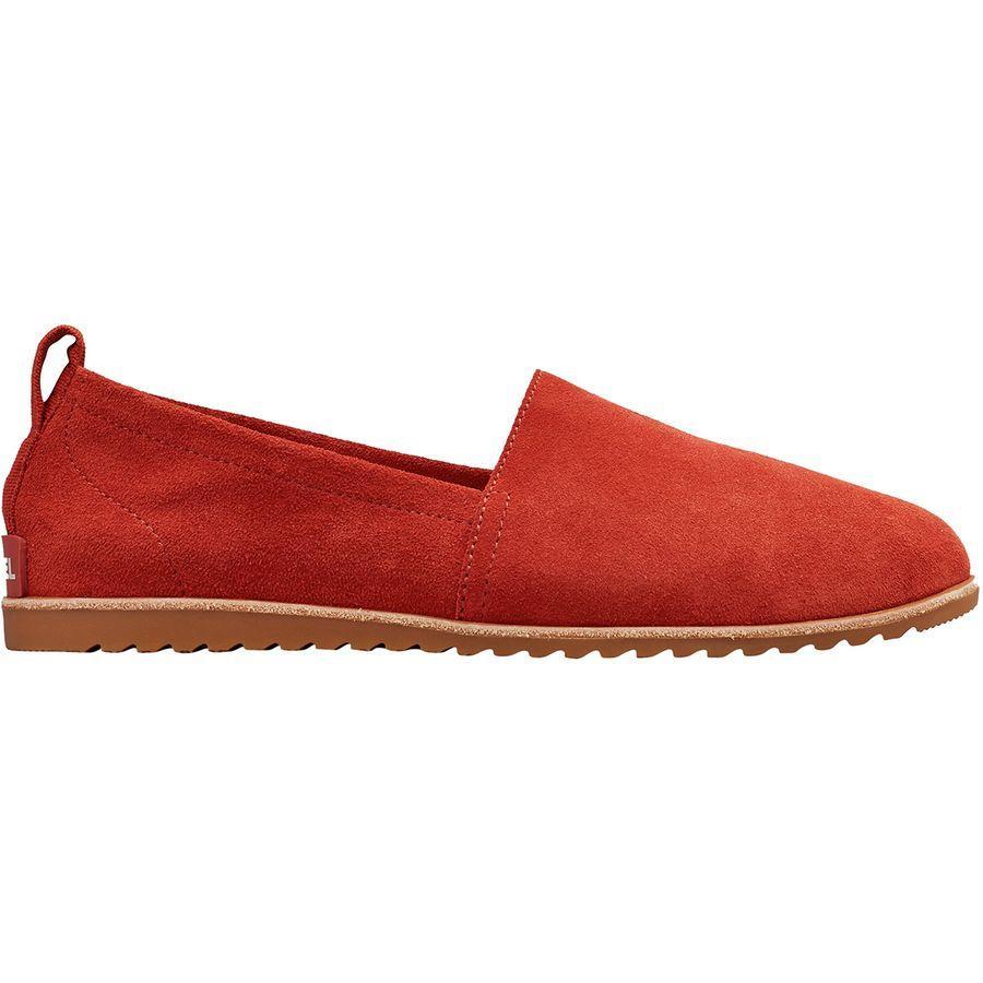 (取寄)ソレル レディース エラ スリップ オン シューズ Sorel Women Ella Slip On Shoe Carnelian Red
