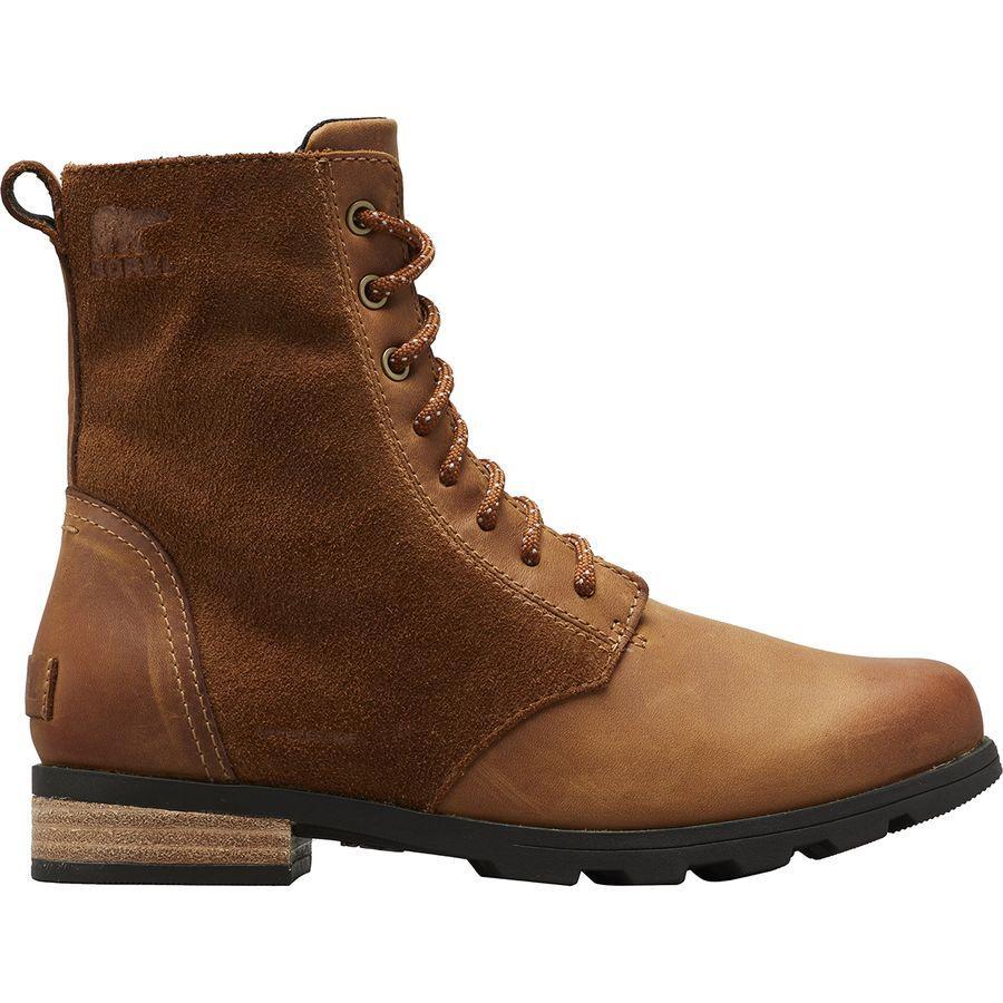 【トレッキング クライミング アウトドア 登山靴】 【レディース シューズ ブーツ 大きいサイズ】 (取寄)ソレル レディース エミリー ショート レース ブーツ Sorel Women Emelie Short Lace Boot Camel Brown