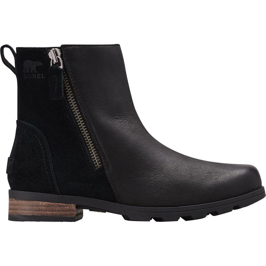 (取寄)ソレル レディース エミリー ジップ ブーティー ブーツ Sorel Women Emelie Zip ie Boot Black