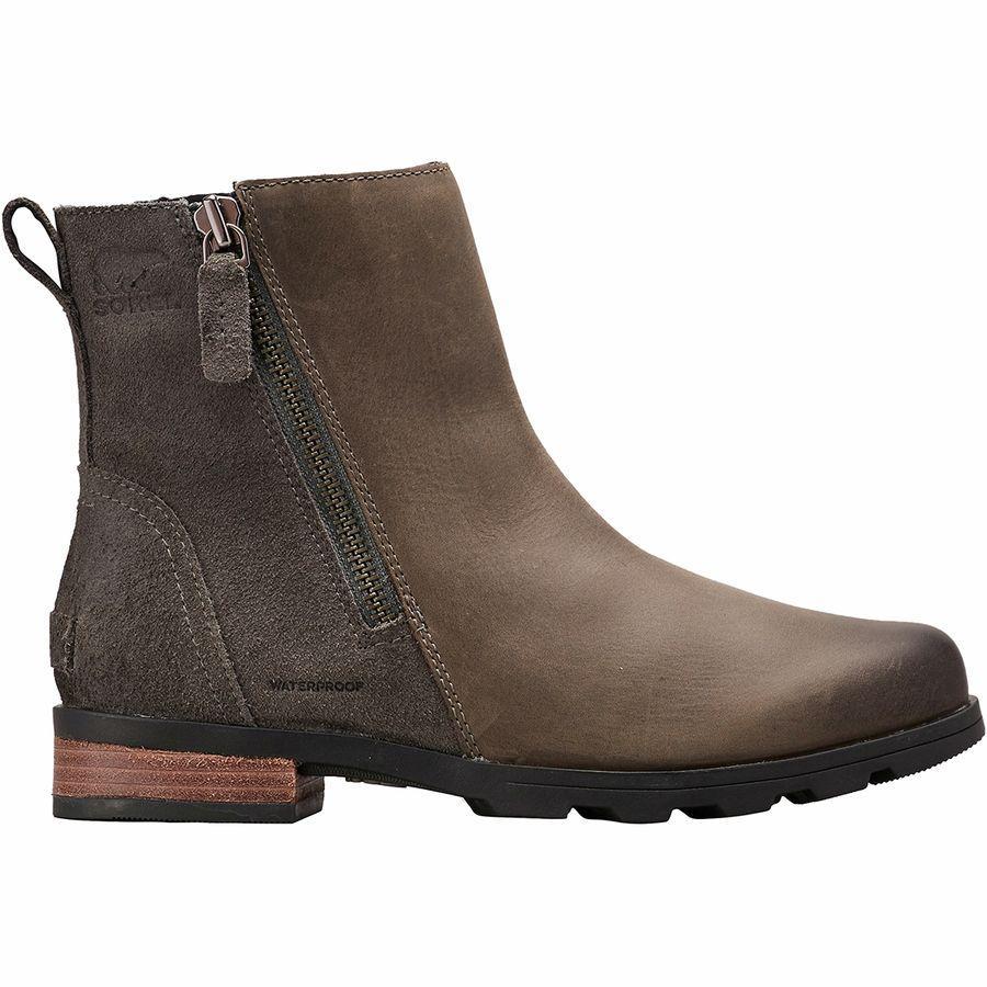 (取寄)ソレル レディース エミリー ジップ ブーティー ブーツ Sorel Women Emelie Zip ie Boot Quarry