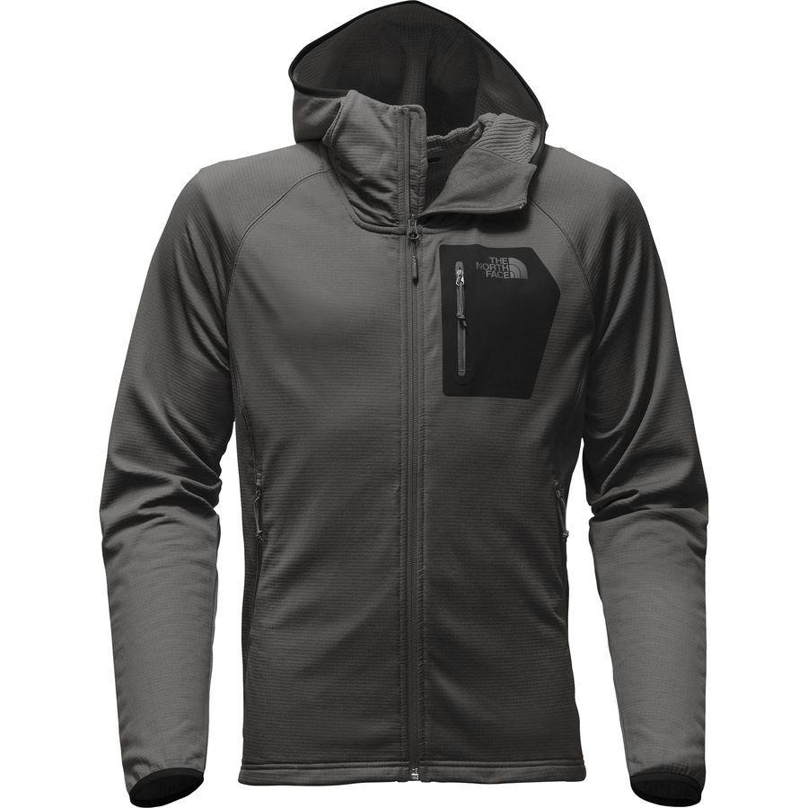 【クーポンで最大2000円OFF】(取寄)ノースフェイス メンズ ボアード フーデッド フリース ジャケット The North Face Men's Borod Hooded Fleece Jacket Asphalt Grey/Tnf Black