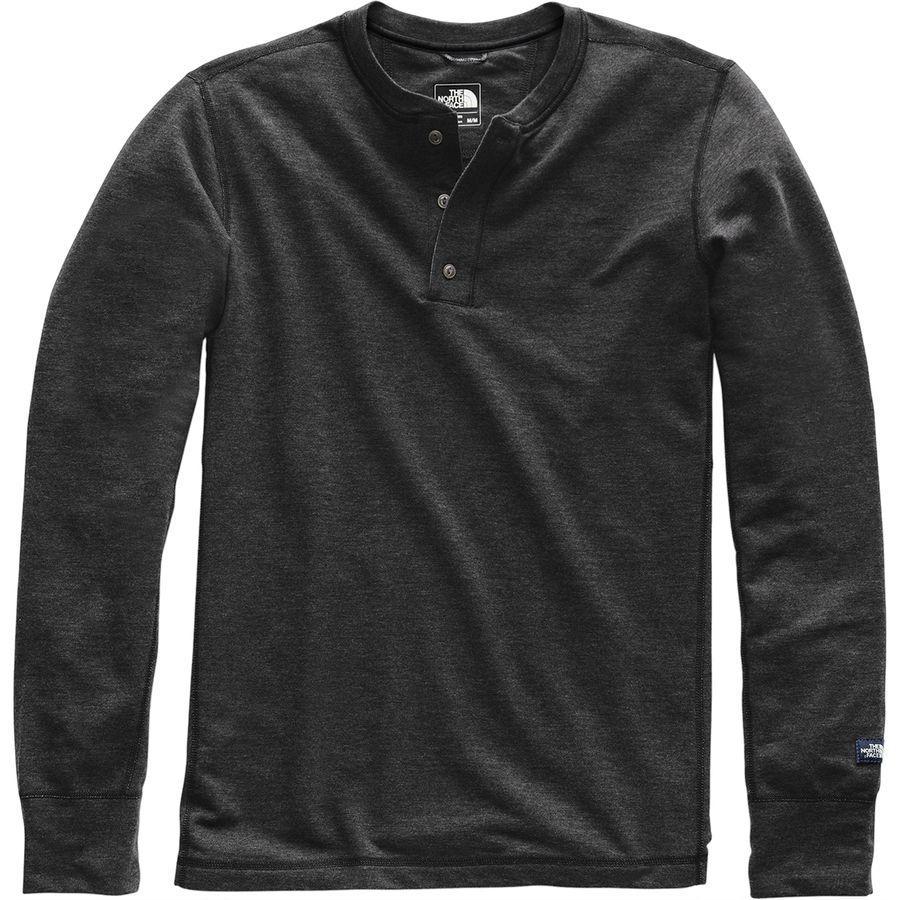 【エントリーでポイント10倍】(取寄)ノースフェイス メンズ テリー ロングスリーブ ヘンリー シャツ The North Face Men's Terry Long-Sleeve Henley Shirt Tnf Dark Grey Heather