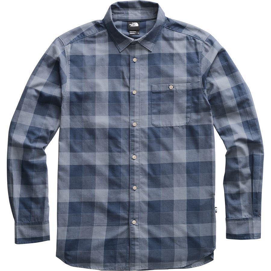 【エントリーでポイント10倍】(取寄)ノースフェイス メンズ ヘイデン パス 2.0 ロングスリーブ シャツ The North Face Men's Hayden Pass 2.0 Long-Sleeve Shirt Urban Navy Encinal Plaid