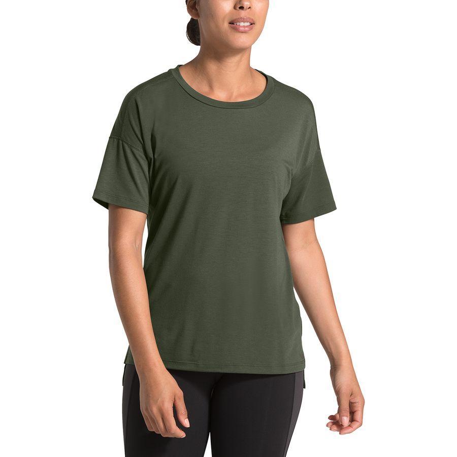 (取寄)ノースフェイス レディース ワークアウト ショートスリーブ トップ The North Face Women Workout Short-Sleeve Top New Taupe Green