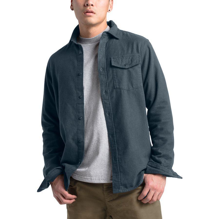 【エントリーでポイント10倍】(取寄)ノースフェイス メンズ ステイサイド シャモア ロングスリーブ シャツ The North Face Men's Stayside Chamois Long-Sleeve Shirt Urban Navy