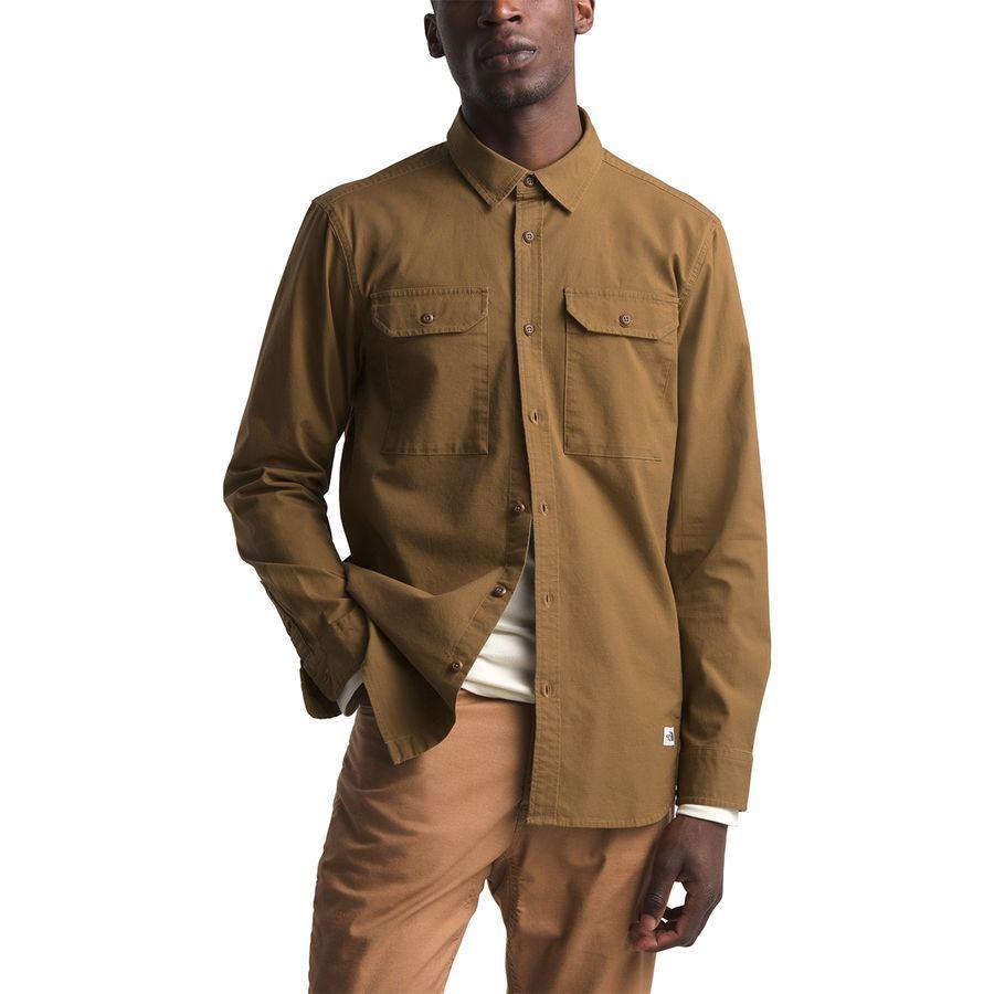 【エントリーでポイント10倍】(取寄)ノースフェイス メンズ バトルメント ロングスリーブ ユーティリティ シャツ The North Face Men's Battlement Long-Sleeve Utility Shirt Cedar Brown