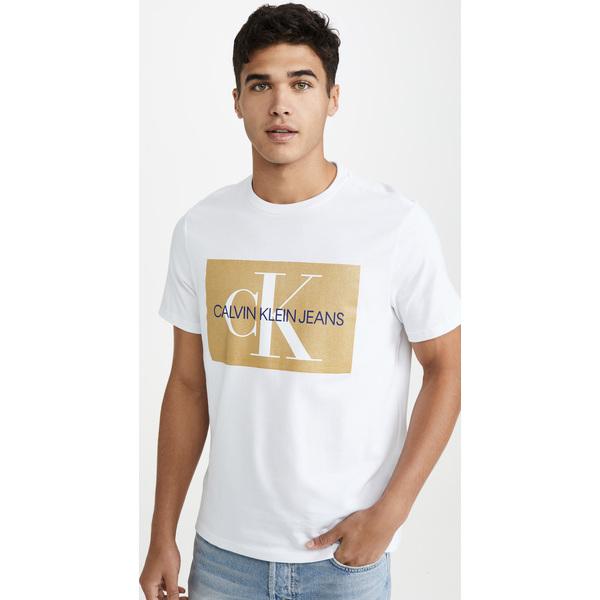 (取寄)カルバンクライン ジーンズ EDI ボックス モノグラム クルー ネック ティー Calvin Klein Jeans EDI Box Monogram Crew Neck Tee Gold