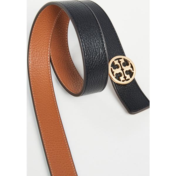 (取寄)トリーバーチ リバーシブル ロゴ ベルト Tory Burch Reversible Logo Belt Black NewCuoio Gold