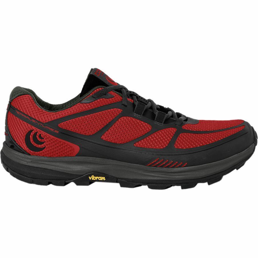 【クーポンで最大2000円OFF】(取寄)トポアスレチック メンズ Terraventure 2 トレイル ランニングシューズ Topo Athletic Men's Terraventure 2 Trail Running Shoe Red/Black