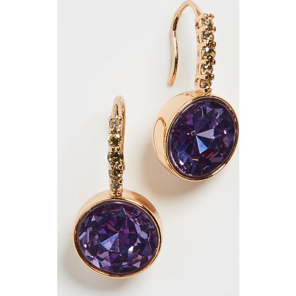 (取寄)ケイトスペード パヴェ ラウンド ドロップ ピアス Kate Spade New York Pave Round Drop Earrings LilacMulti