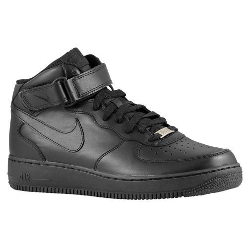 NIKE ナイキ メンズ エアフォース 1 ミッド スニーカー Nike Men's Air Force 1 Mid Black Black