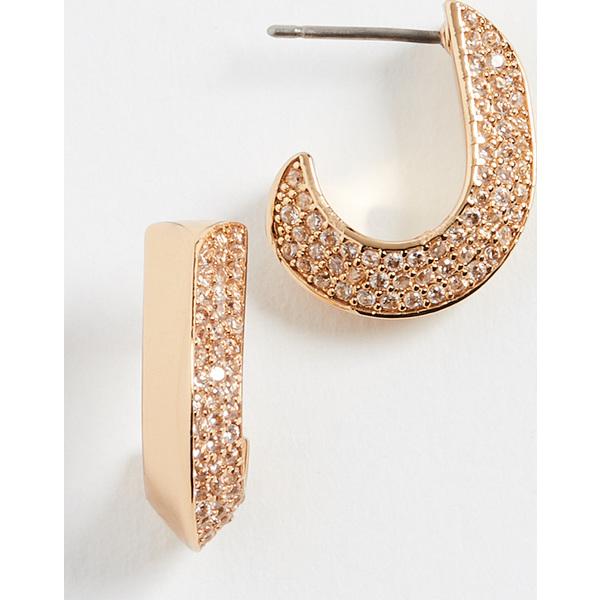 (取寄)ケイトスペード パヴェ スモール ハギー ピアス Kate Spade New York Pave Small Huggie Earrings Clear Gold