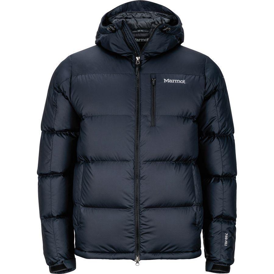 【エントリーでポイント10倍】(取寄)マーモット メンズ ガイド ダウン フーデッド ジャケット Marmot Men's Guides Down Hooded Jacket Black