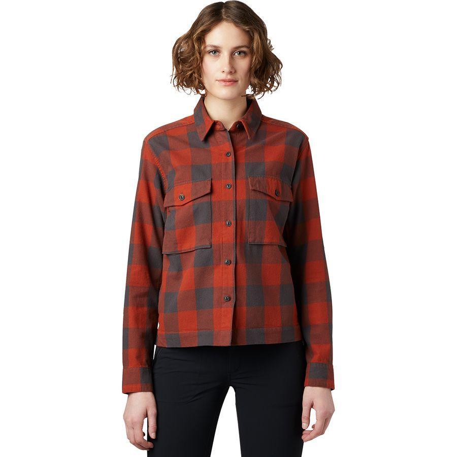 ハイキング 至高 登山 トレッキング 山登り アウトドア カジュアル 店舗 ジャケット アウター ウェア レディース 女性用 シャツ Moiry Women マウンテンハードウェア Mountain モアリ Jacket 取寄 Shirt Hardwear Rusted