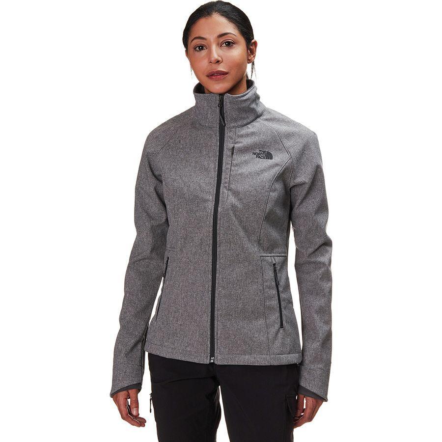 (取寄)ノースフェイス レディース アペックス バイオニック 2 ソフトシェル ジャケット The North Face Women Apex Bionic 2 Softshell Jacket Tnf Medium Grey Heather