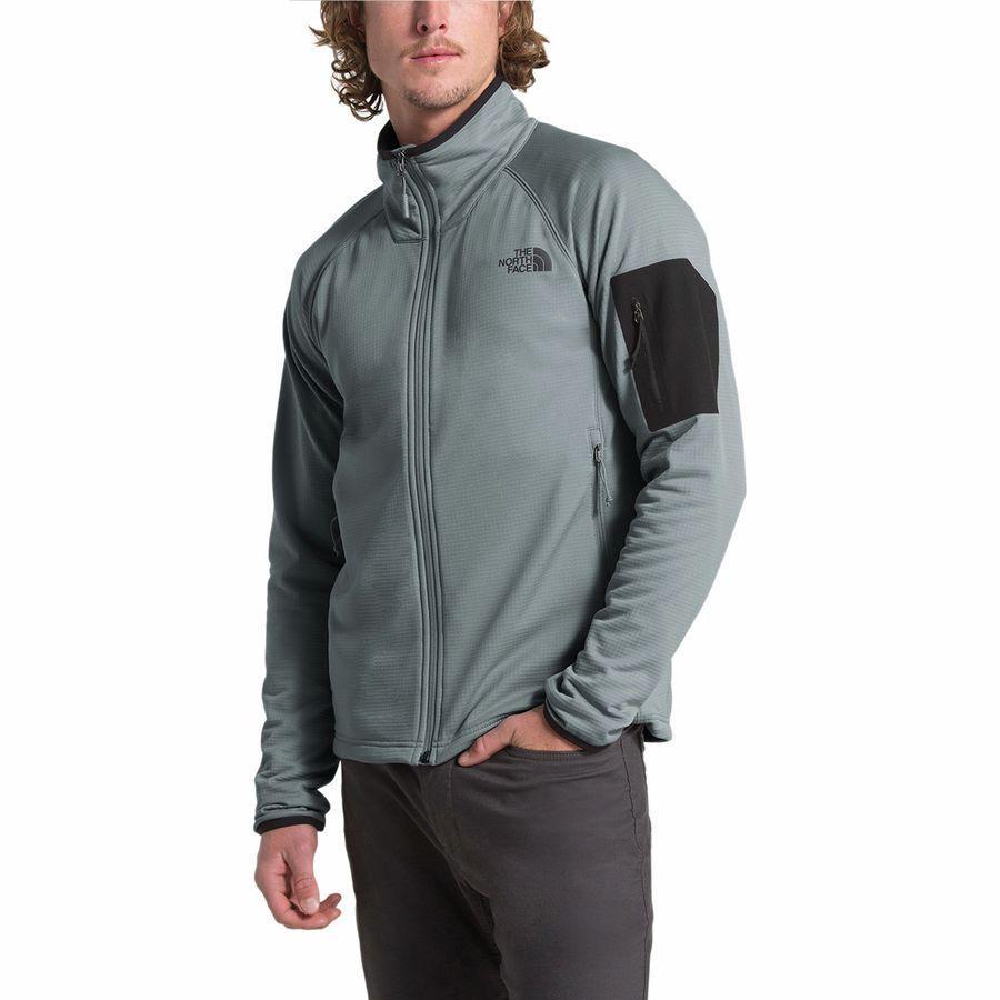 (取寄)ノースフェイス メンズ ボアード フリース ジャケット The North Face Men's Borod Fleece Jacket Mid Grey/Tnf Black