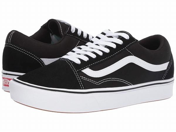 (取寄)Vans(バンズ) スニーカー コンフィクッシュ オールド スクール ユニセックス メンズ レディース Vans Unisex Comfycush Old Skool (Classic) Black/True White