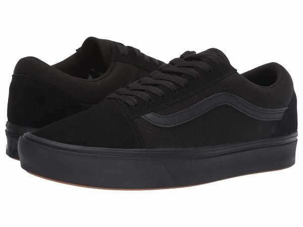 (取寄)Vans(バンズ) スニーカー コンフィクッシュ オールド スクール ユニセックス メンズ レディース Vans Unisex Comfycush Old Skool (Classic) Black/Black