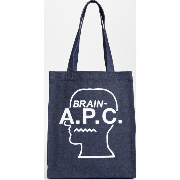 (取寄)アーペーセー ブレーン デット トート バッグ A.P.C. Brain Dead Tote Bag White