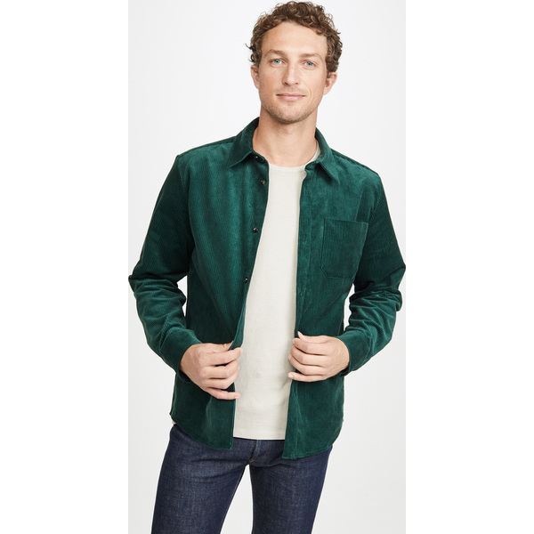 【エントリーでポイント10倍】(取寄)アーペーセー サーシュミーズ マーク シャツ ジャケット A.P.C. Surchemise Marc Shirt Jacket VertSapin