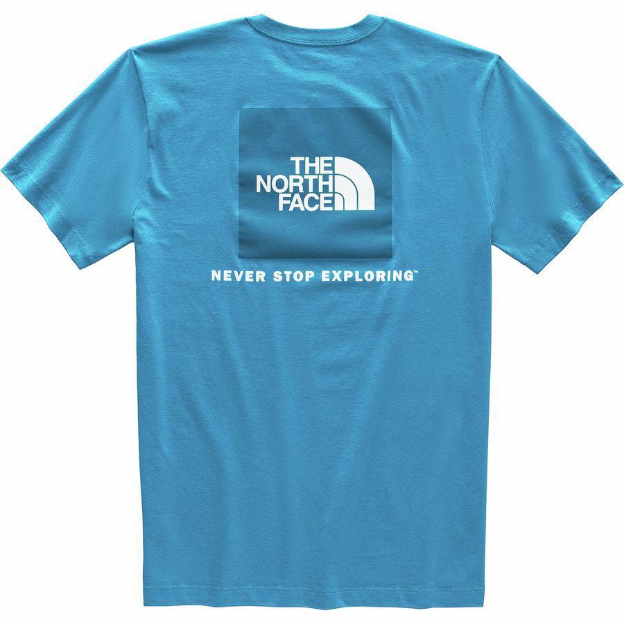 (取寄)ノースフェイス メンズ レッド ボックス Tシャツ The North Face Men's Red Box T-Shirt Acoustic Blue