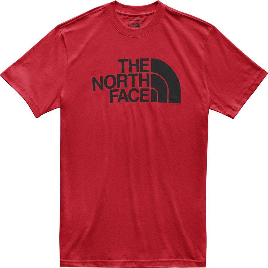 (取寄)ノースフェイス メンズ ハーフ ドーム Tシャツ The North Face Men's Half Dome T-Shirt TNF Red/TNF Black