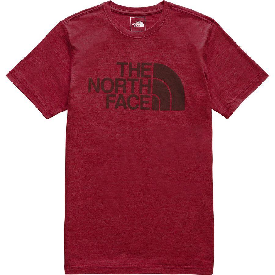 (取寄)ノースフェイス メンズ ハーフ ドーム Tri-Blend Tシャツ The North Face Men's Half Dome Tri-Blend T-Shirt Cardinal Red Heather