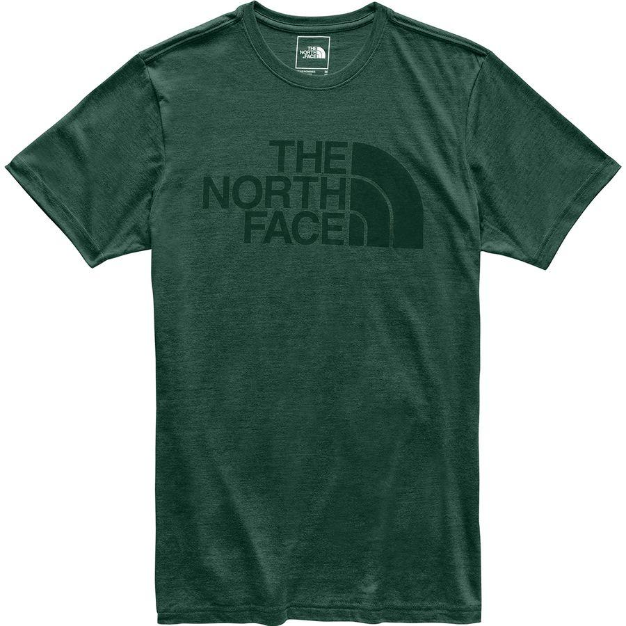 (取寄)ノースフェイス メンズ ハーフ ドーム Tri-Blend Tシャツ The North Face Men's Half Dome Tri-Blend T-Shirt Night Green Heather