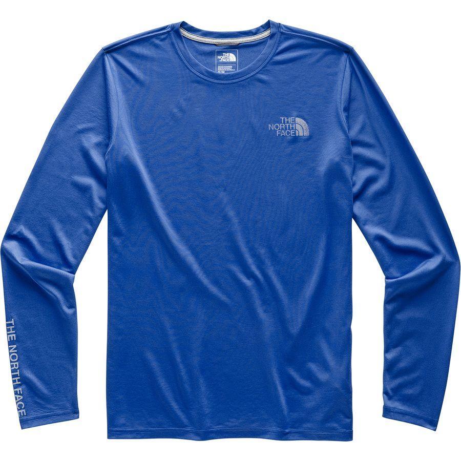 (取寄)ノースフェイス メンズ リアクション グラフィック ロングスリーブ ロングスリーブ Tシャツ The North Face Men's Reaxion Graphic Long-Sleeve T-Shirt Tnf Blue