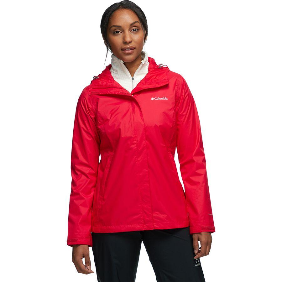 【クーポンで最大2000円OFF】(取寄)コロンビア レディース アルカディア 2 レイン ジャケット Columbia Women Arcadia II Rain Jacket Red Lily