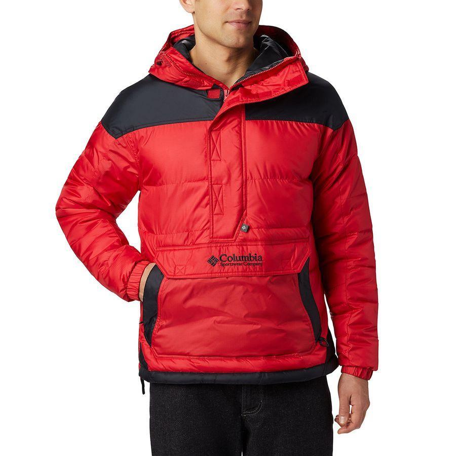 【クーポンで最大2000円OFF】(取寄)コロンビア メンズ ロッジ プルオーバー ジャケット Columbia Men's Lodge Pullover Jacket Mountain Red/Black