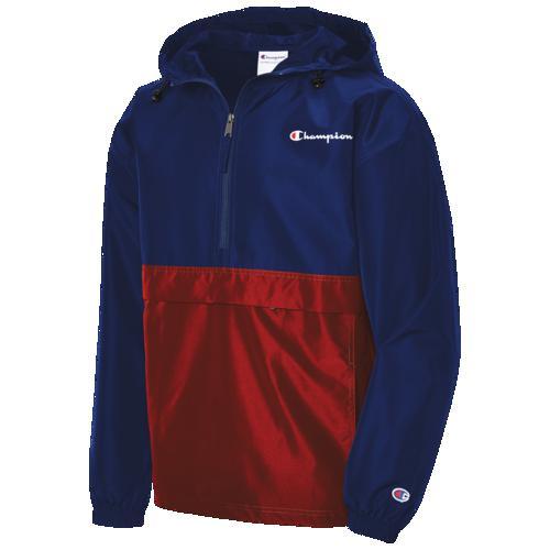 【クーポンで最大2000円OFF】(取寄)チャンピオン メンズ パッカブル ジャケット カラーブロック Champion Men's Packable Jacket Colorblocked Surf The Web Scarlet