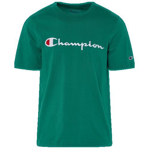 (取寄)チャンピオン メンズ コットン スクリプト ロゴ Tシャツ Champion Men's Cotton Script Logo T-Shirt Kelly Green