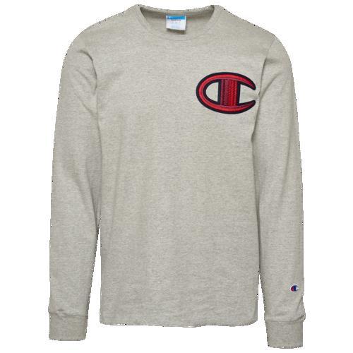(取寄)チャンピオン メンズ ヘリテージ フロス スティッチ C ロングスリーブ Tシャツ Champion Men's Heritage Floss Stitich C L/S T-Shirt Oxford Grey
