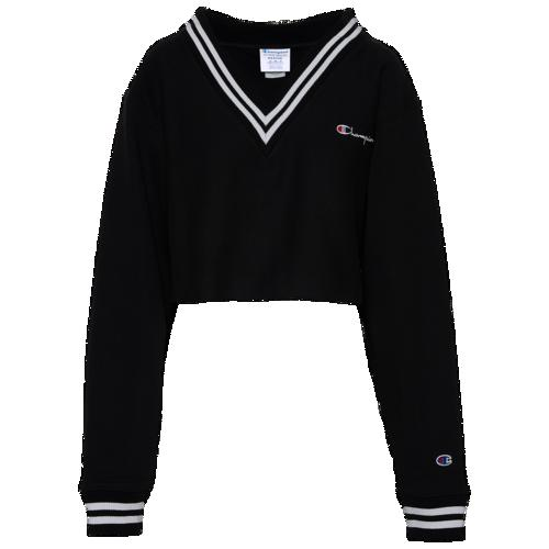 (取寄)チャンピオン レディース ザ オリジナル ダイレクト フロック スクリプト Tシャツ Champion Women's The Orginal Direct Flock Script T-Shirt Black