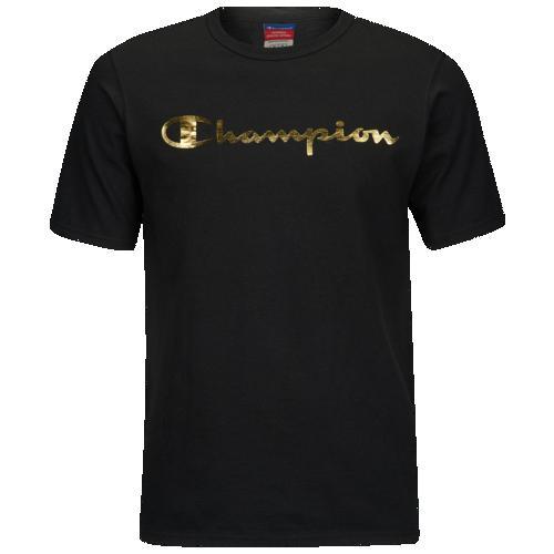 (取寄)チャンピオン メンズ グラフィック Tシャツ Champion Men's Graphic T-Shirt Black Gold
