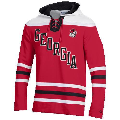 【エントリーでポイント10倍】(取寄)チャンピオン メンズ カレッジ スーパー ファン ホッケー フーディ ジョージア ブルドッグス Champion Men's College Super Fan Hockey Hoodie ジョージア ブルドッグス Red White Black