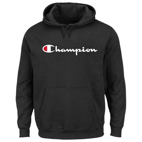 (取寄)チャンピオン メンズ ビッグ アンド トール スクリプト ロゴ フーディ Champion Men's Big And Tall Script Logo Hoodie Black