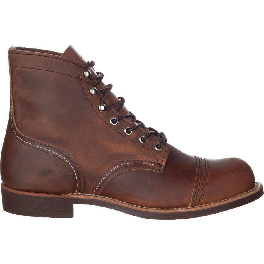 (取寄)レッドウィング メンズ ヘリテイジ アイアン レンジャー 6in ブーツ Red Wing Men's Heritage Iron Ranger 6in Boot Copper Rough & Tough Leather